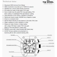 TW Steel TW Steel CE2006 CEO Tonneau horloge Swiss Made DEMO