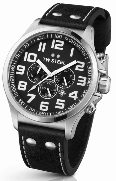 TW Steel TW Steel TW412 Pilot chronograaf heren horloge 45 mm DEMO