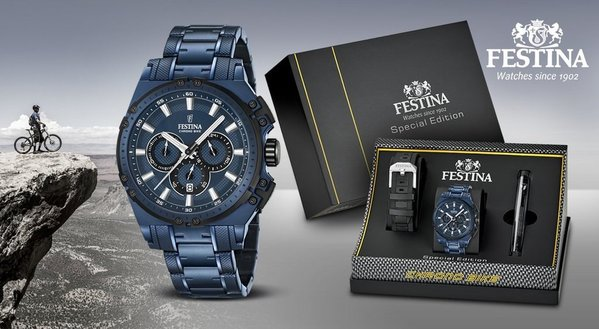 Festina Festina F16973/1 Chrono Bike 2016 horloge Special Edition 44mm