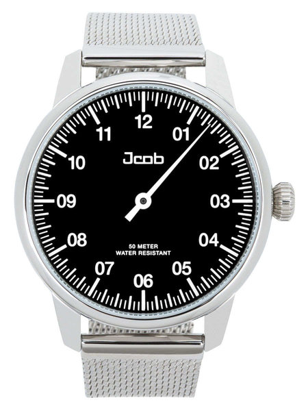 Jcob Jcob Einzeiger JCW002-SS01 zwart herenhorloge