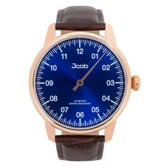 Jcob Einzeiger JCW004-LR01 roségoud/blauw herenhorloge