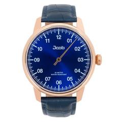 Jcob Einzeiger JCW004-LR03 roségoud/blauw herenhorloge