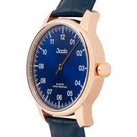 Jcob Jcob Einzeiger JCW004-LR03 roségoud/blauw heren horloge