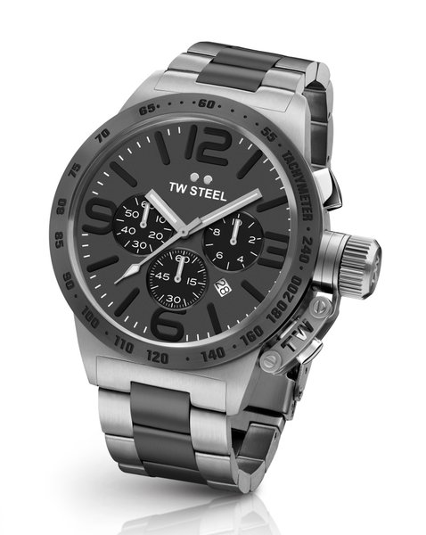 TW Steel TW Steel CB203 Canteen Steel chronograaf heren horloge 45mm DEMO