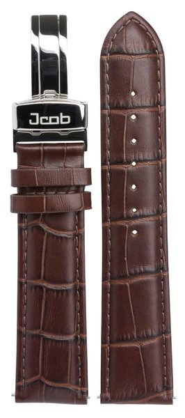 Jcob Jcob Einzeiger JCS-LS01 leren horlogeband bruin