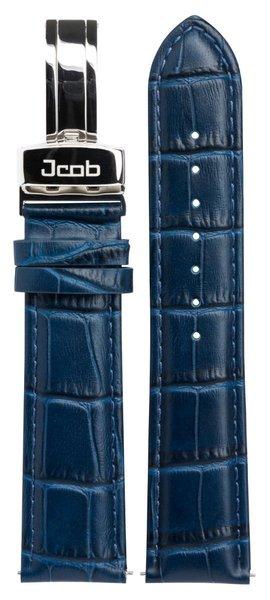 Jcob Jcob Einzeiger JCS-LS03 leren horlogeband blauw