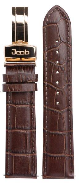 Jcob Jcob Einzeiger JCS-LR01 leren horlogeband bruin
