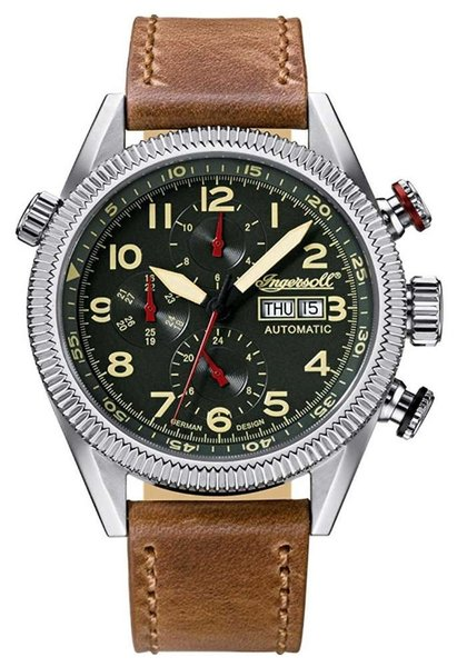 Ingersoll Ingersoll IN1102GR Grizzly automatisch herenhorloge 45mm