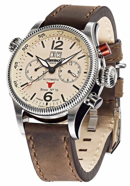 Ingersoll Ingersoll IN3225CR Bison automatisch herenhorloge 46mm