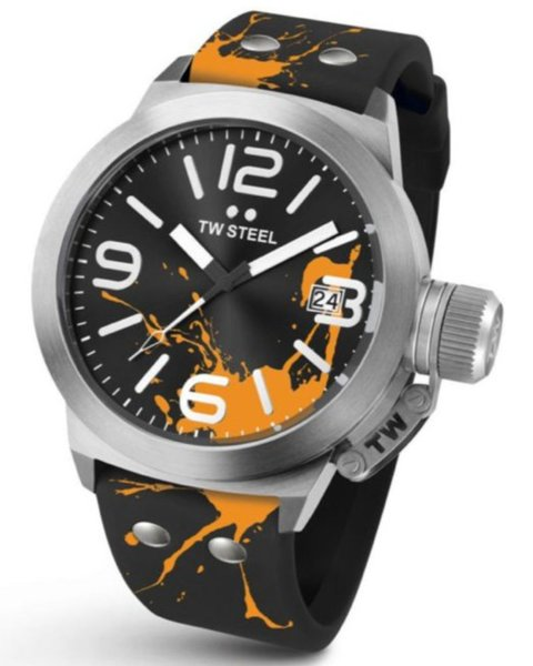 TW Steel TW Steel TW553 Canteen Fashion horloge zwart 45 mm DEMO