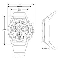 TW Steel TW Steel ACE114 Genesis chronograaf herenhorloge 44mm
