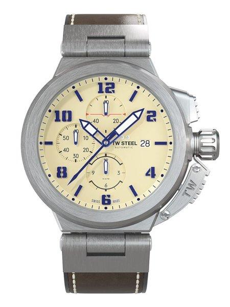 TW Steel TW Steel ACE202 Spitfire Swiss Made automatisch chronograaf heren horloge 46 mm