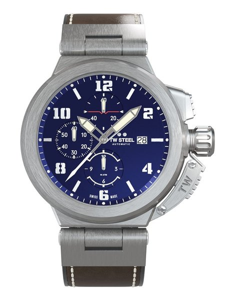 TW Steel TW Steel ACE203 Spitfire Swiss Made automatisch chronograaf heren horloge 46 mm
