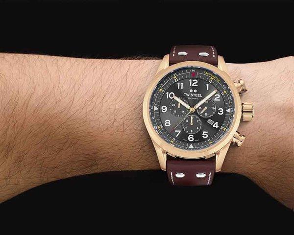 TW Steel TW Steel Swiss Volante SVS203 chronograaf horloge 48mm