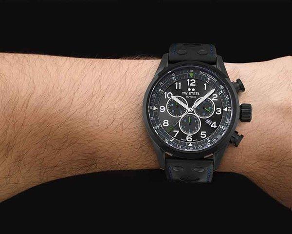 TW Steel TW Steel Swiss Volante SVS306 Petter Solberg Edition chronograaf horloge 48mm
