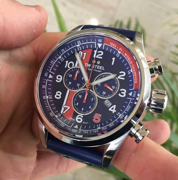 TW Steel TW Steel Swiss Volante SVS307 Nigel Mansell Limited Edition chronograaf horloge 48mm