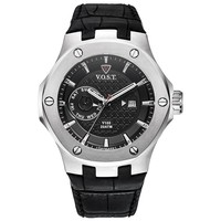 V.O.S.T. Germany V.O.S.T. Germany V100.004 Steel Multifunction heren horloge 44mm