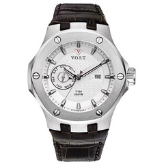 V.O.S.T. Germany V100.006 Steel Multifunction heren horloge 44mm