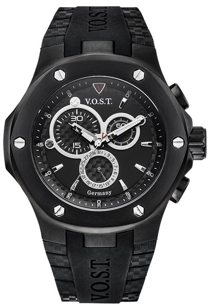 V.O.S.T. Germany V.O.S.T. Germany V100.013 Black Chrono heren horloge 44mm