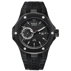 V.O.S.T. Germany V100.014 Black Multifunction heren horloge 44mm