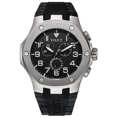 V.O.S.T. Germany V100.024 Titanium Chrono heren horloge 44mm