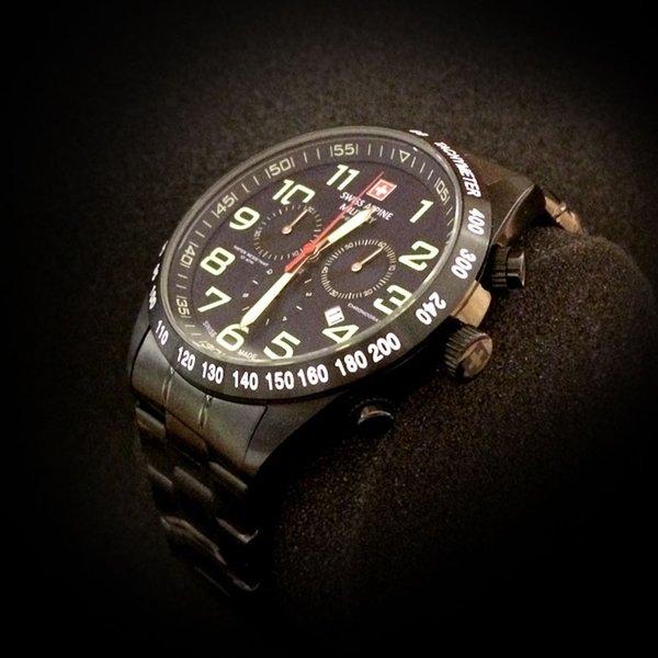 Swiss Alpine Military Swiss Alpine Military 7047.9177 heren horloge 46 mm