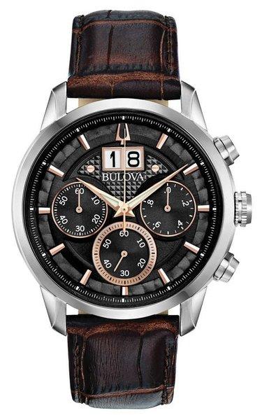 Bulova Bulova 96B311 Sutton Chronograaf herenhorloge 44 mm