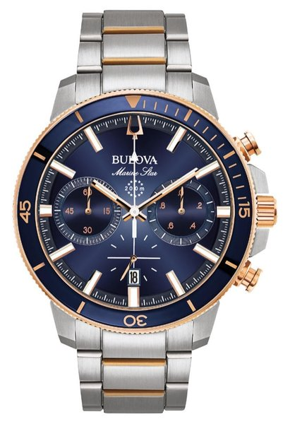 Bulova Bulova 98B301 Marine Star Chronograaf herenhorloge 45 mm
