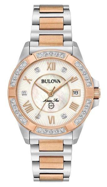 Bulova Bulova 98R234 Marine Star Diamond dames horloge 32 mm