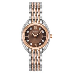 Bulova 98R230 Classic Diamond dames horloge 30 mm