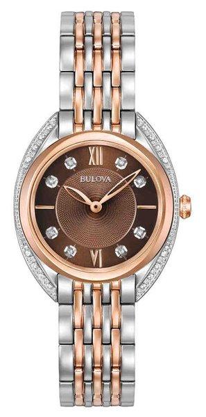 Bulova Bulova 98R230 Classic Diamond dames horloge 30 mm