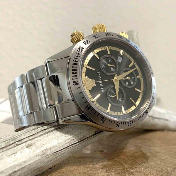 Versace Versace VEV700419 Chrono Classic heren horloge chronograaf 44 mm