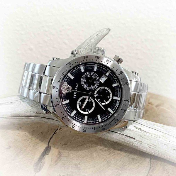 Versace Versace VEV800419 Sporty heren horloge chronograaf 44 mm