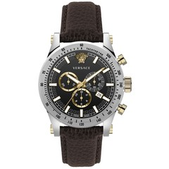 Versace VEV800119 Sporty heren horloge chronograaf 44 mm