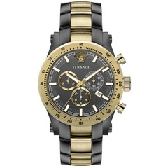 Versace VEV800519 Sporty heren horloge chronograaf 44 mm
