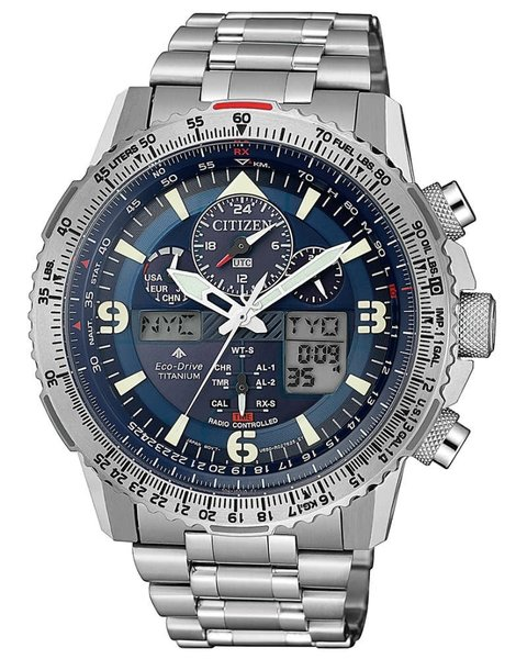 Citizen Citizen JY8100-80L Promaster Sky radiogestuurd Eco-Drive heren horloge 45,4 mm