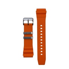Tauchmeister 22mm oranje rubberen horlogeband S22-OR