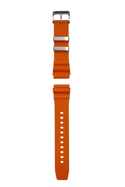 Tauchmeister Tauchmeister 22mm oranje rubberen horlogeband S22-OR