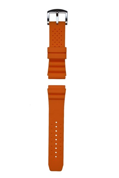 Tauchmeister Tauchmeister 24mm oranje rubberen horlogeband S24-OR