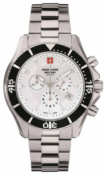 Swiss Alpine Military Swiss Alpine Military 7040.9132 heren horloge chronograaf 44 mm