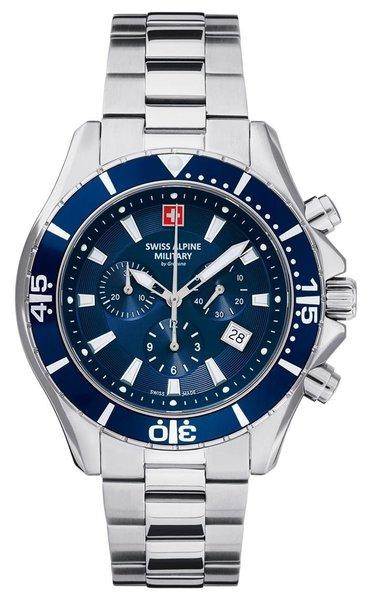 Swiss Alpine Military Swiss Alpine Military 7040.9135 heren horloge chronograaf 44 mm