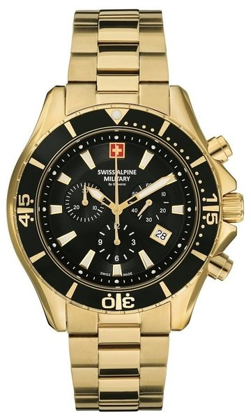 Swiss Alpine Military Swiss Alpine Military 7040.9117 heren horloge chronograaf 44 mm