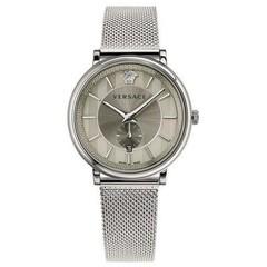 Versace VBQ060017 V-Circle Silver heren horloge 42 mm