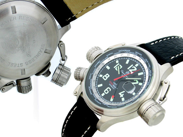 Tauchmeister Tauchmeister XXL Military Worldtimer met GMT T0158