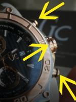swiss made chronograaf instellen foto pushers en kroon