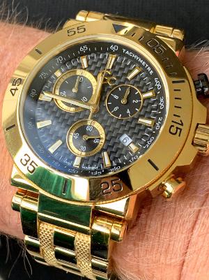 goudkleurig horloge Gc Y70004G2MF heren horloge