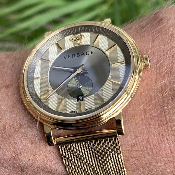 Versace Versace VBQ070017 V-Circle heren horloge 42 mm