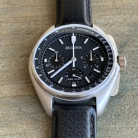 Bulova Bulova 96B251 Lunar Pilot 'Moon watch' Chronograaf herenhorloge 45 mm