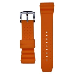 Tauchmeister 24mm oranje rubberen horlogeband S24-OR