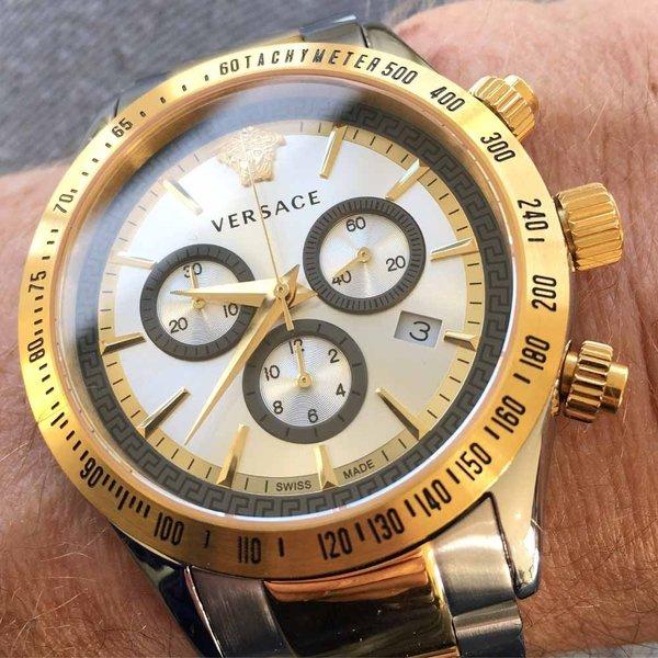 Versace Versace VEV700519 Chrono Classic heren horloge chronograaf 44 mm DEMO